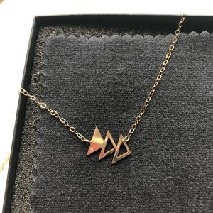 Limbo Jewelry - Asymmetrical, 14k Gold Fill Triangle Necklace